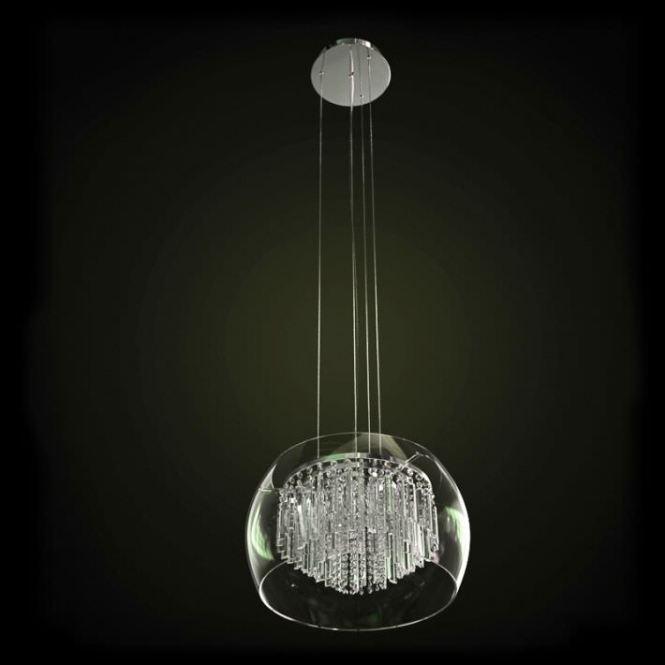 Glass Chandelier Hanging Lamp Model Obj 1