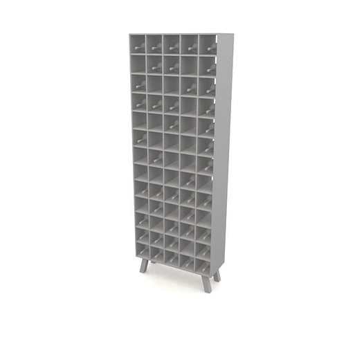 white wooden wine rack 3d model