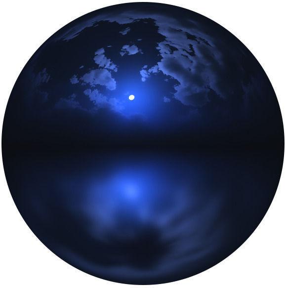 4k hdr night moon