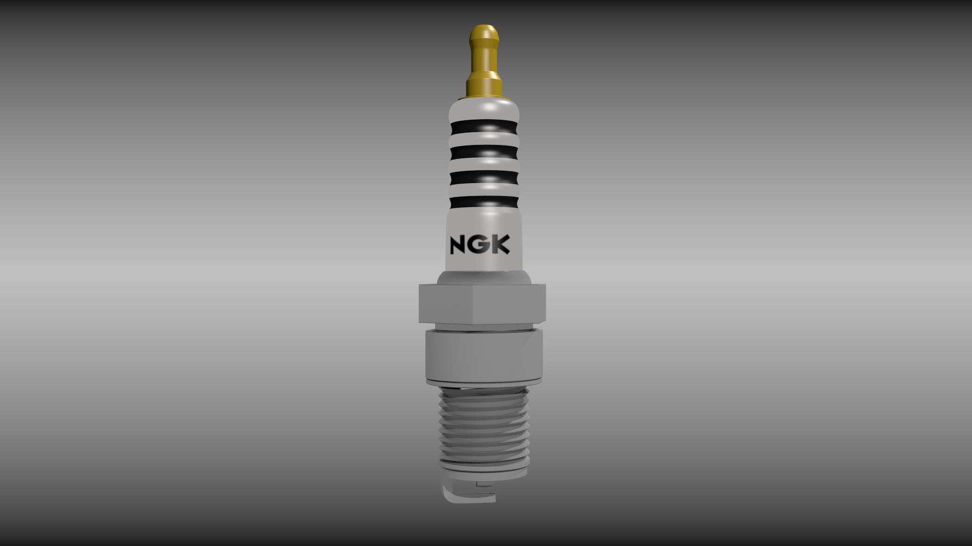 spark plugins dog lymph nodes diagram plug 3d model obj fbx blend cgtrader