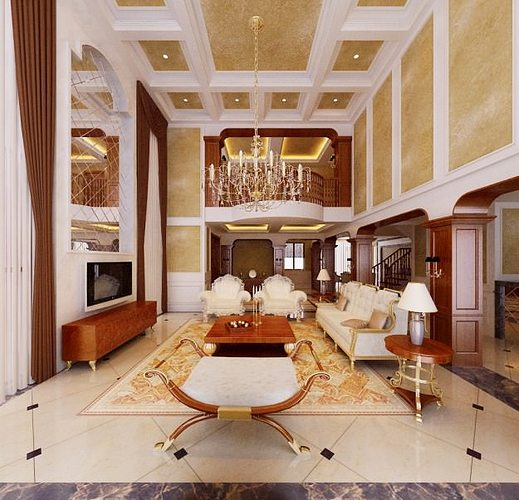 3D Model Photoreal Luxury House Interior 3D Model MAX