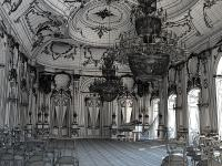 Baroque Hall With Piano And Chairs 3D Model MAX