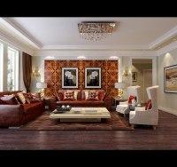Modern Living Room With Big Windows 3D Model MAX