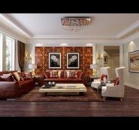 Modern Living Room With Big Windows 3D Model MAX ...