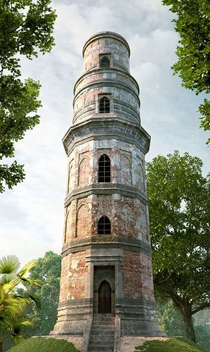 Old Tower In A Forest 3D CGTrader