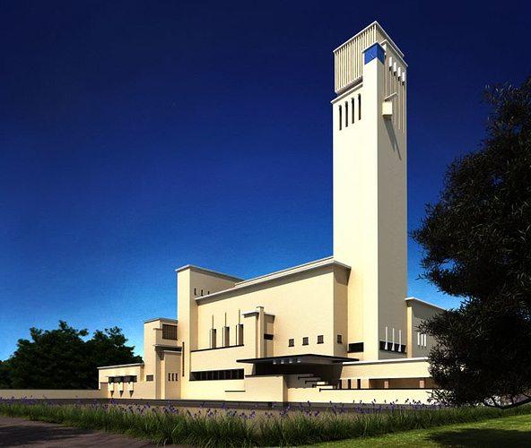 3D Modern Church Tall Building CGTrader