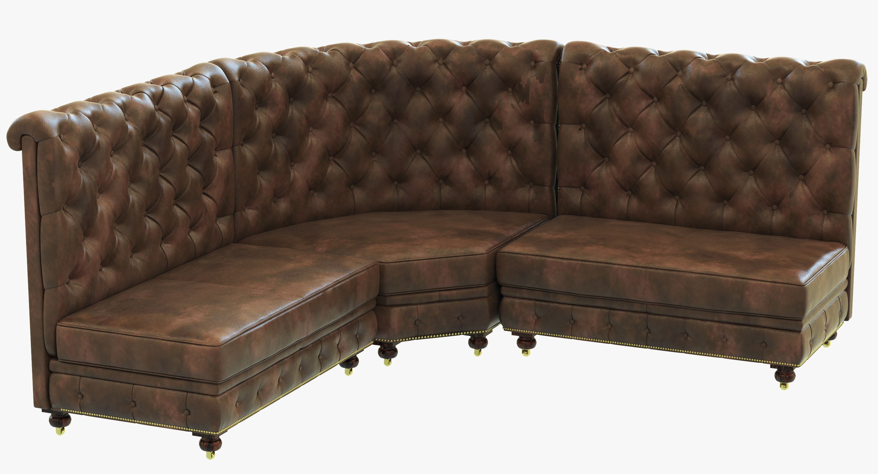 kensington leather chair wicker living room restoration hardware l banquette 3d