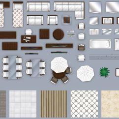 Desk Chair Plan View Flip Sleeper 2d Furniture Floorplan Top Down Style 2 Psd 3d Model