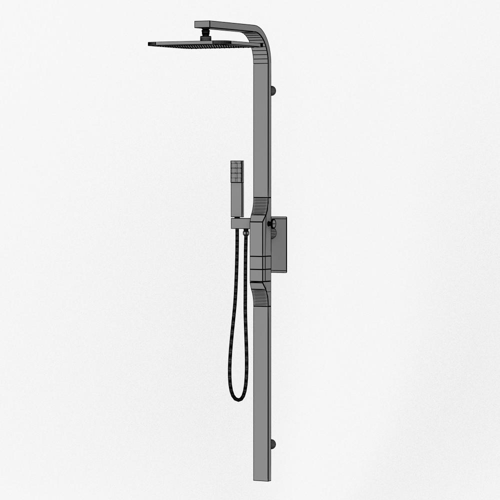 Shower column Zazzeri REM 3D Model MAX OBJ 3DS FBX DWG