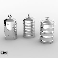 Kitchen Canister Reclaimed Table Alessi Kalisto 3d Model Max Obj Mtl Fbx Unitypackage Prefab 3