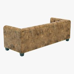 Savoy Leather Sofa Restoration Hardware Simmons Upholstery 3d Model Max Obj