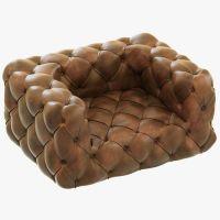 Restoration Hardware Soho Tufted Leather Chair 3D model ...