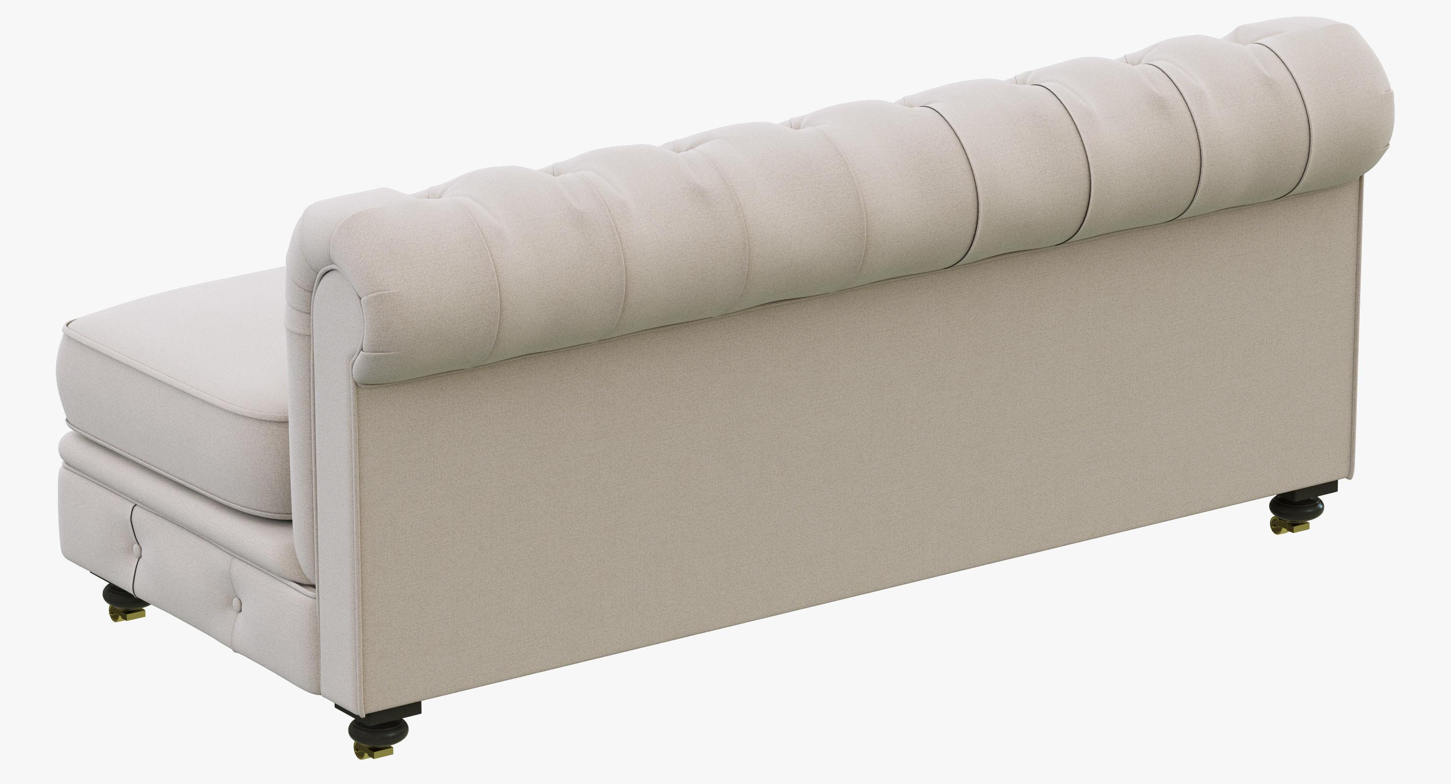 restoration hardware kensington sofa 106 bed queen mattress upholstered armless