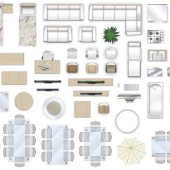 3 In One High Chair Plans Workout Ball Office 2d Furniture Floorplan Top Down View Style 4 Psd 3d Model
