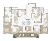 2d furniture floorplan top down view style 4 PSD 3D Model ...