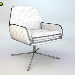 Swivel Chair Vr Philippines Armchair Coco 3d Model Max Cgtrader