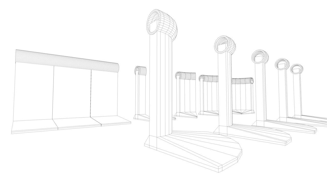 Berlin Wall 2nd gen Element 3D Model OBJ 3DS FBX C4D DAE