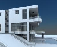 Modern Villa with Balcony 3D Model MAX   CGTrader.com