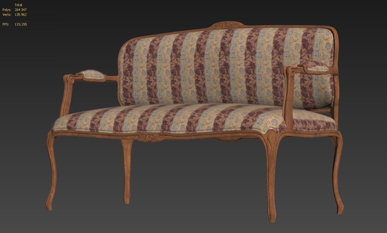 sofa classic good quality sofas 3d model cgtrader max obj mtl fbx 8