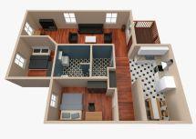 3d House - Floor Plan 2 Cgtrader
