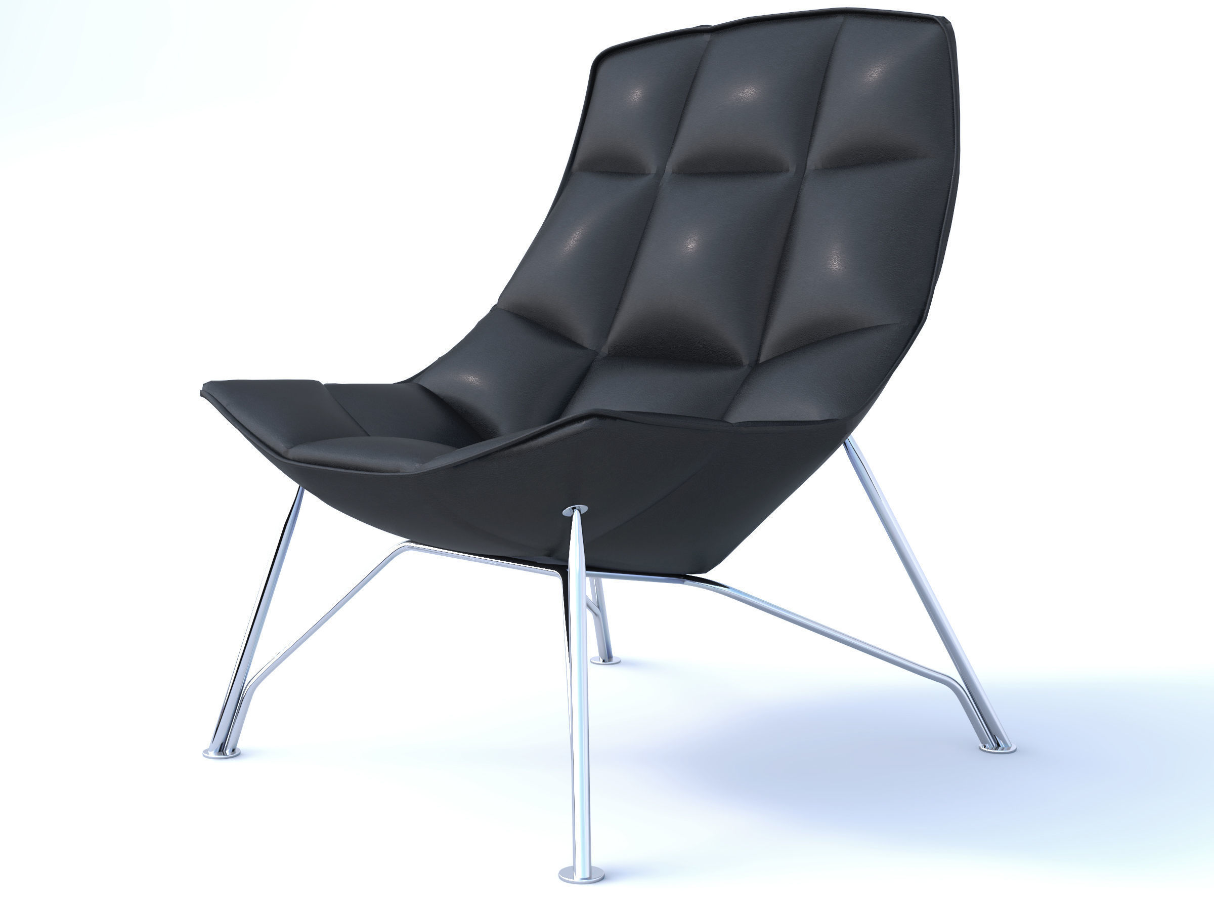 jehs laub lounge chair office armless knoll and 3d cgtrader model obj mtl 3dm 1