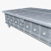 distressed trunk coffee table 3D Model MAX OBJ 3DS FBX MTL ...