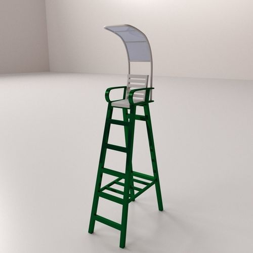 tennis umpire chair hire green french bistro chairs 3d model cgtrader