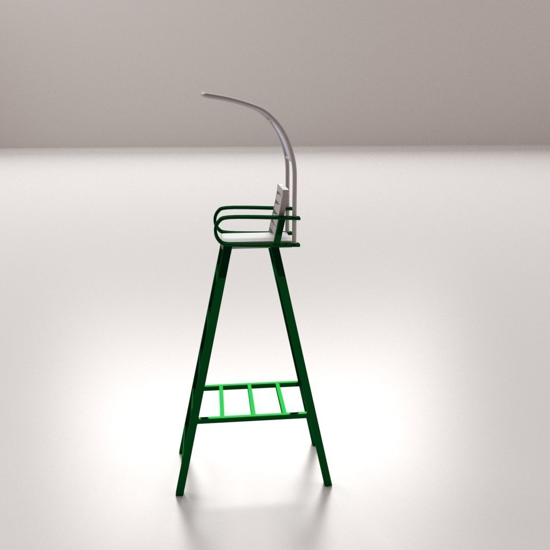 tennis umpire chair hire lcw charles ray eames 3d model cgtrader obj mtl 3ds fbx blend dae 3