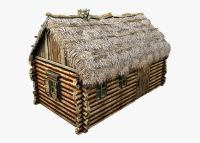 3D model Wooden Thatch House VR / AR / low-poly MAX OBJ ...