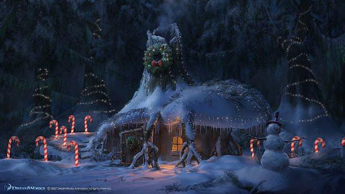 Christmas Snow House Sc 3D CGTrader