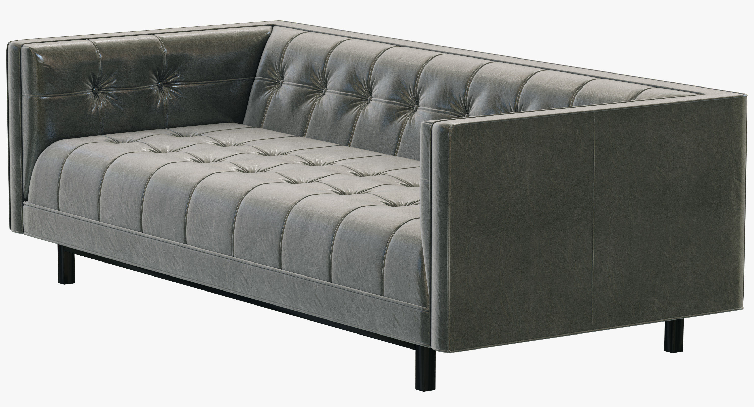 cloud track arm leather sofa rv for slide out restoration hardware
