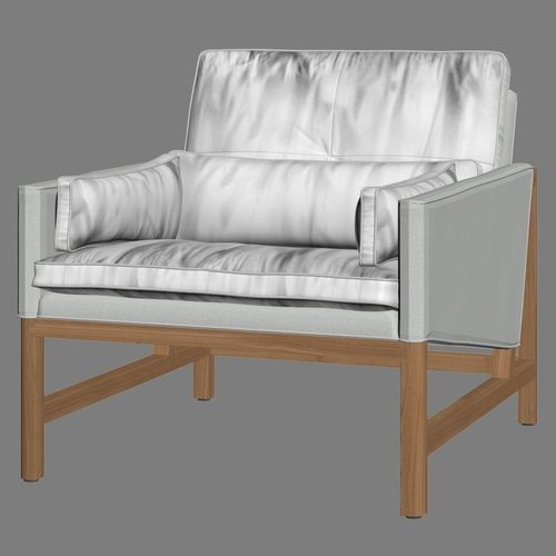 low back lawn chair 9 styling for sale bassamfellows lounge 3d model cgtrader max obj mtl 3ds fbx