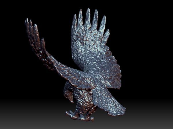 Eagle Sculpture 3d Model Printable Obj