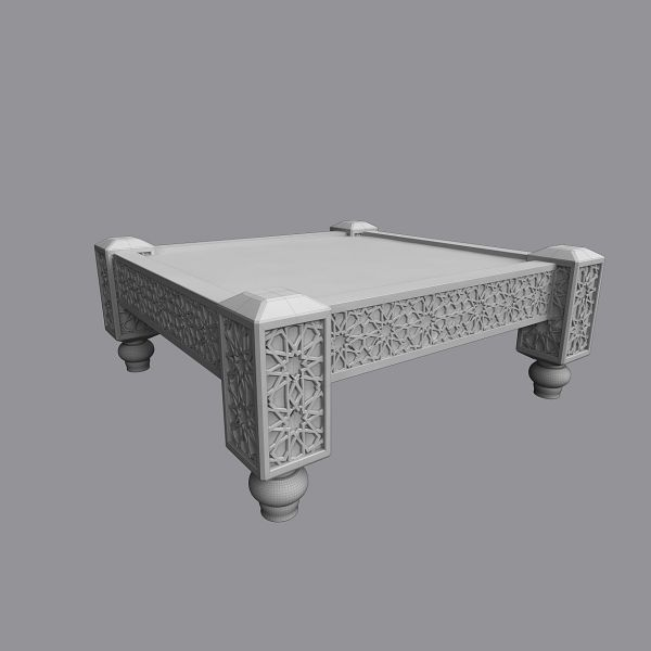 Moroccan Sofa Set With Tables And Carpet 3d Model Max Obj