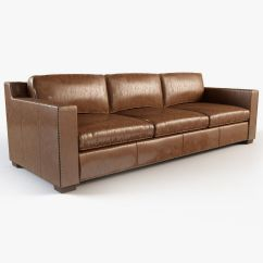 Restoring Leather Sofa Bernhardt Kelsey Sectional Restoration Hardware Collins With Nailheads