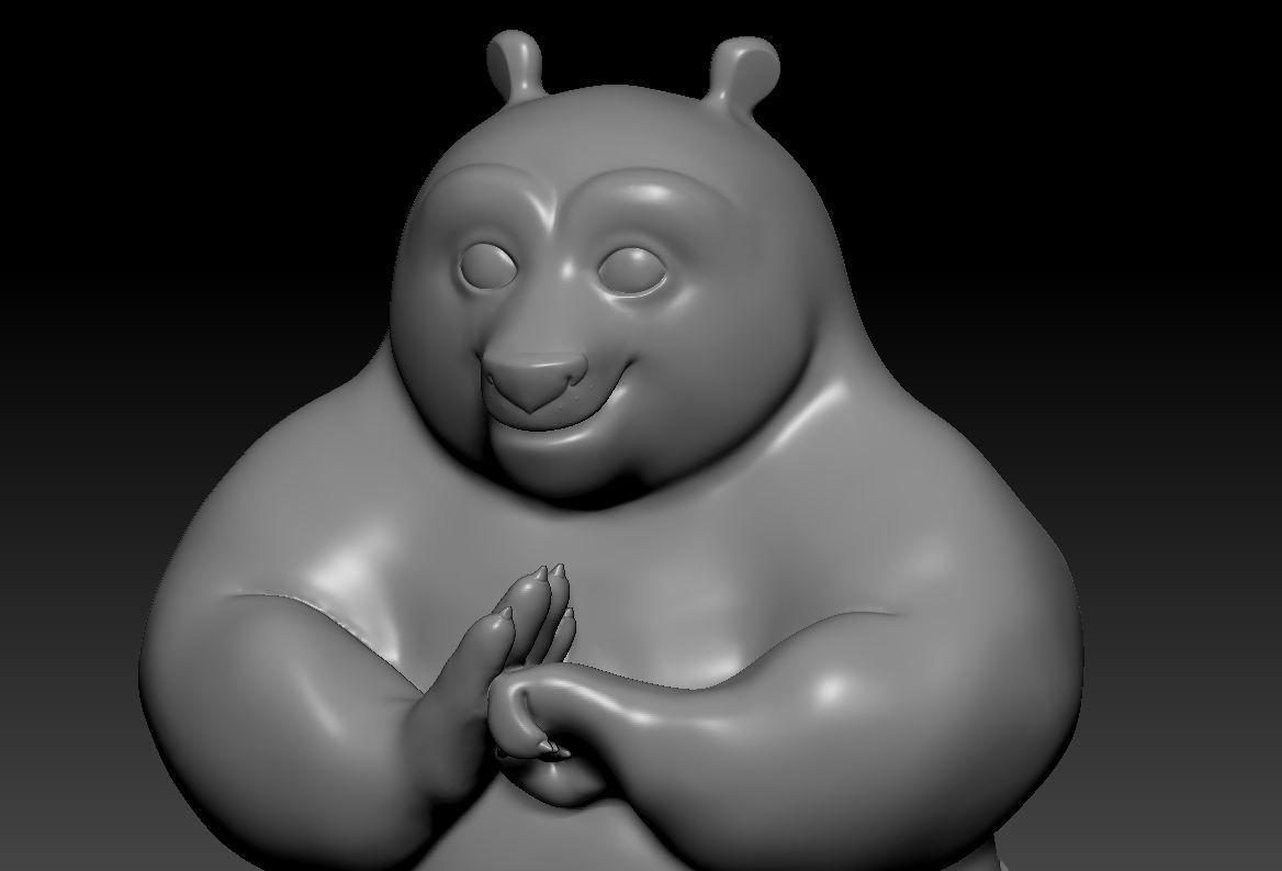3d Printable Model Kung Fu Panda Po