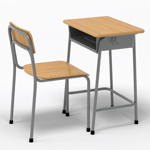 School Desk and Chair 3D model  CGTrader