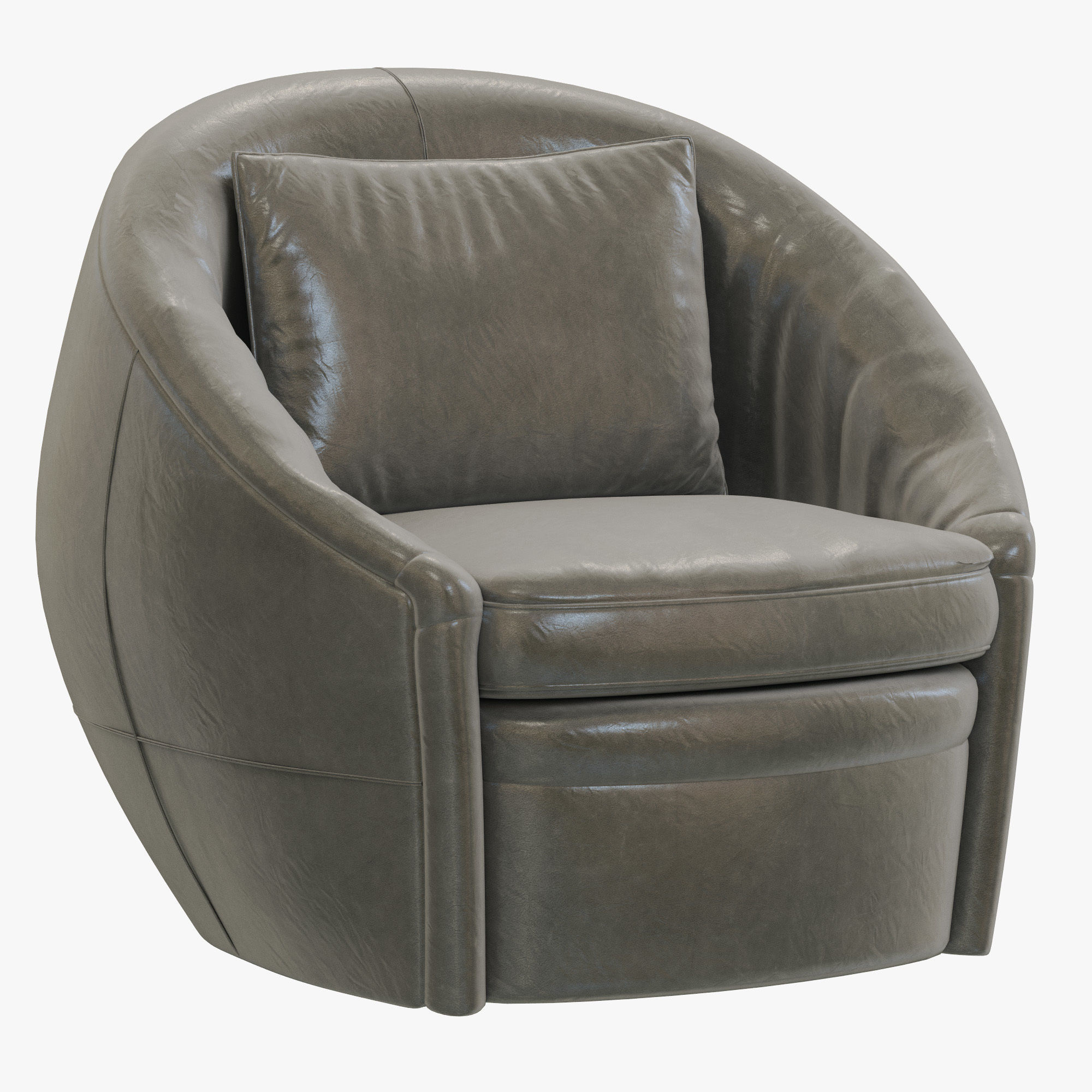 Restoration Hardware Leather Chairs Restoration Hardware Oberon Leather Swivel Chair 3d Model