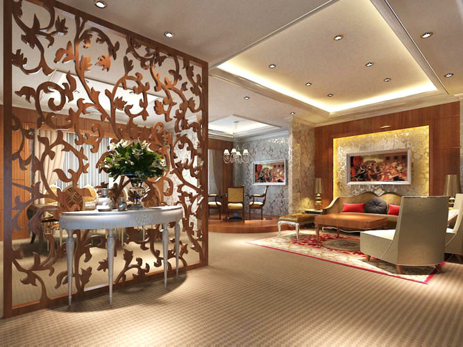 interior design of living room in india ideas to decorate a exotic bar with exclusive wooden partition 3d model max