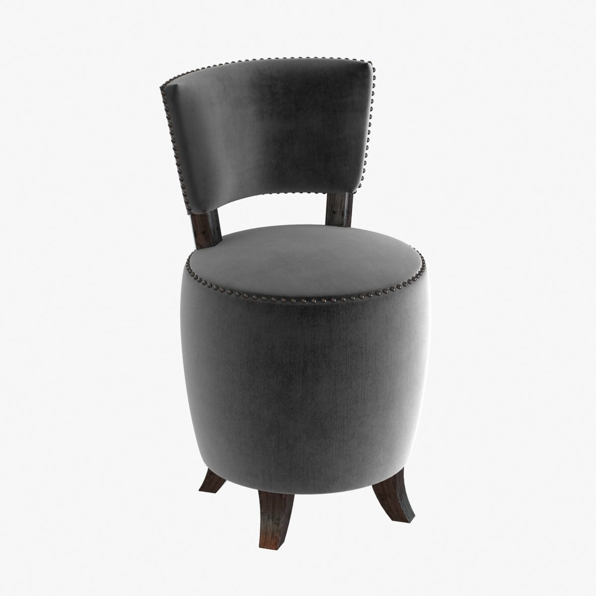 Small Chairs For Bedroom Small Round Velvet Chair For Bedroom 3d Model