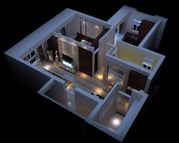 3D Highend Condo Interior  CGTrader