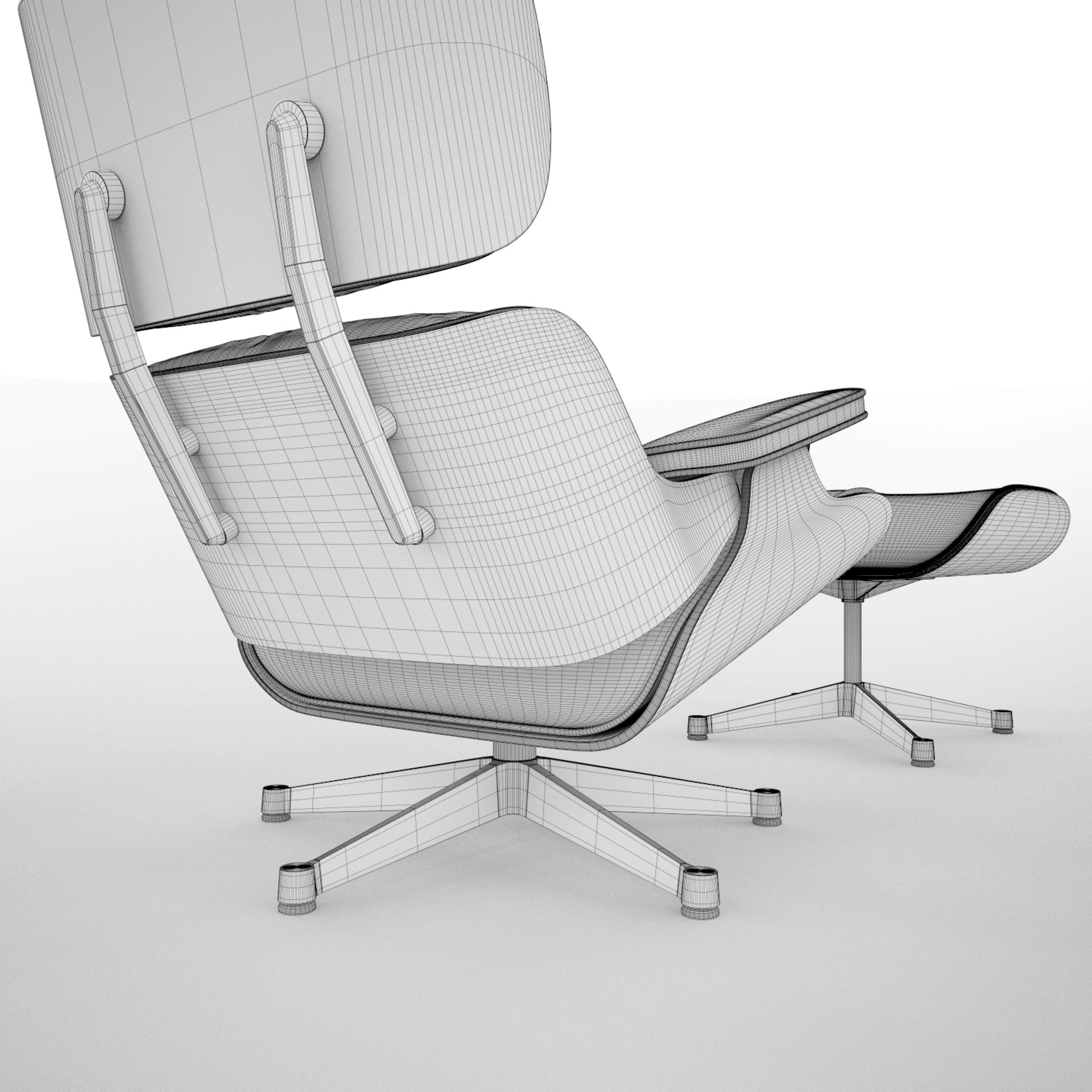 vitra lounge chair ultimate camping eames hi poly 3d model c4d cgtrader
