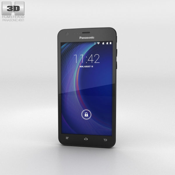 Panasonic Eluga U Black 3D   CGTrader