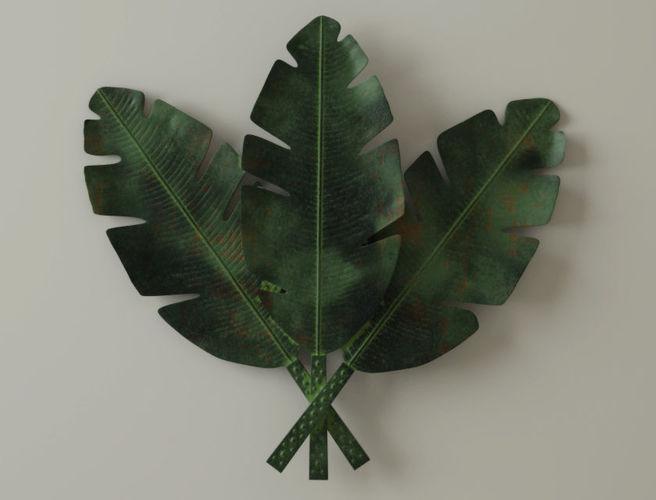 Palm Leaves Metal Wall Art 3D Model
