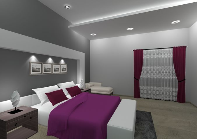 3D model Romantic Master Bedroom  CGTrader