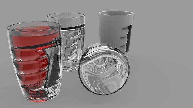 3D print model Glup  Water Ripple Art Glass and Cup