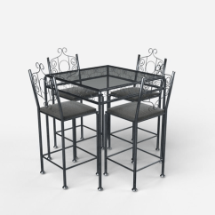 Bistro Tables And Chairs Oversized Moon Chair Canada Table With 3d Model Cgtrader
