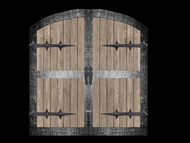 Medieval 3D Medieval Gate CGTrader