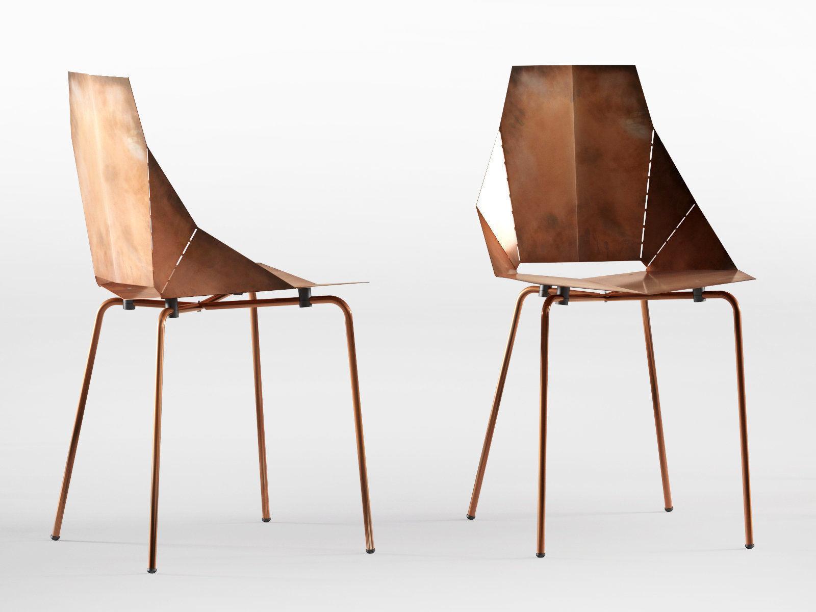 real good chair bamboo cushions 3d cgtrader model