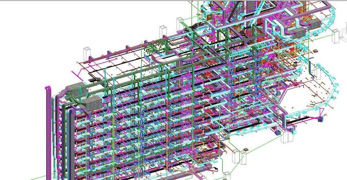 Revit MEP All System Project Model  CGTrader